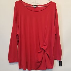 INC. NEW Red Plus Size Tunic Top Size 4X